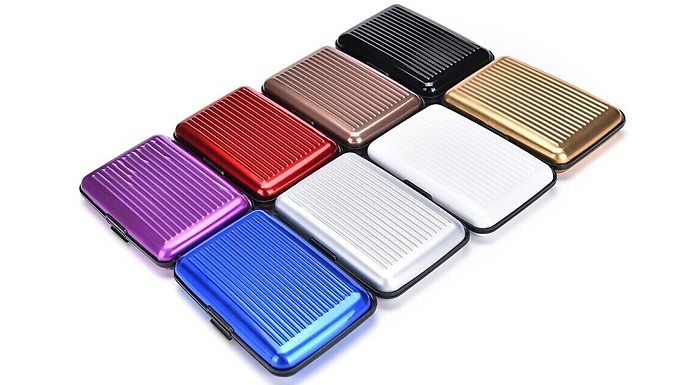 Protective Magnetic Card Holder Wallet - 5 Colours from Bucks Trading Limited