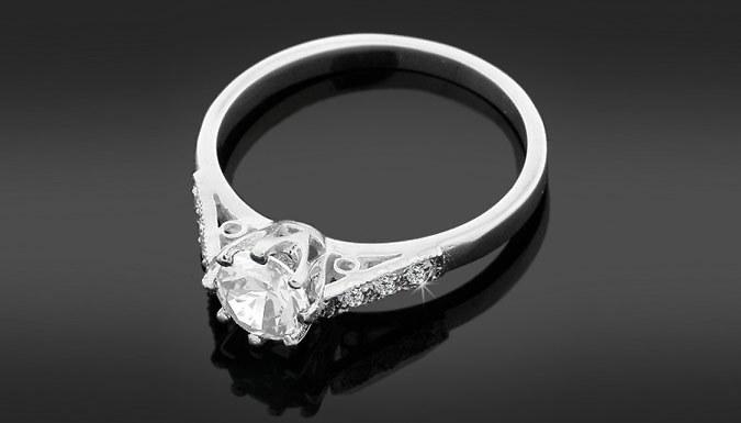 1ct Zirconia and Diamond Ring