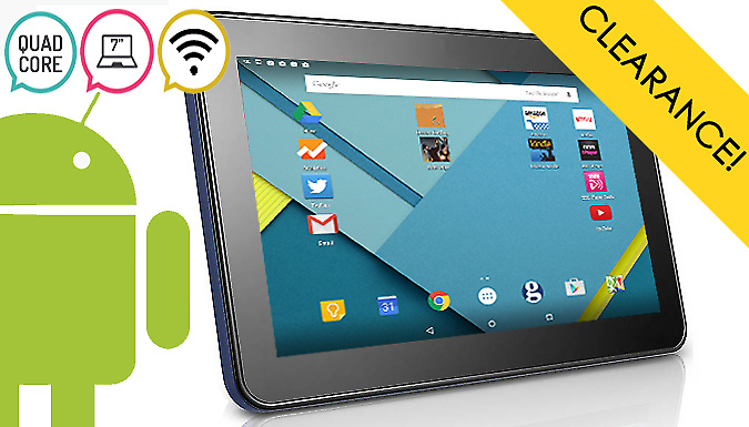 7 Inch SmartPad Android 4.4 Quad-Core Tablet - Optional 32GB SD Card