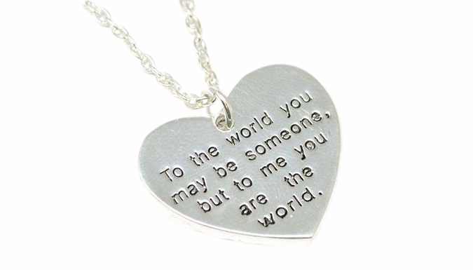 Love Heart Pendant With Sentimental Engraving