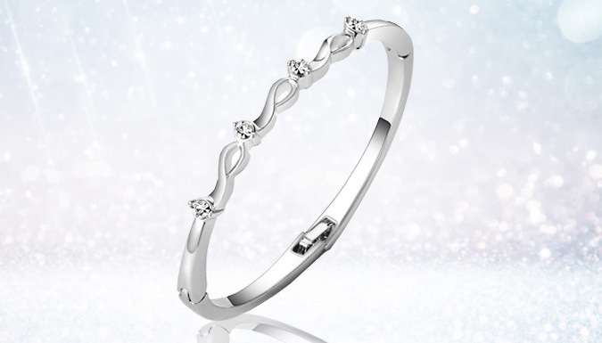 4-Stone Bangle made with Crystals from Swarovski