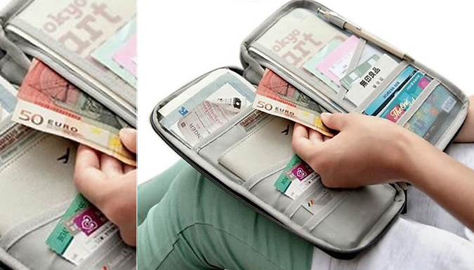 Zip-Up Passport Holder - 7 Colours from DML Solutions