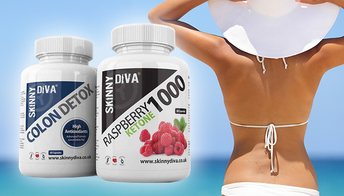 2 or 4 Month Supply of Raspberry Ketone and Cleanse Capsules