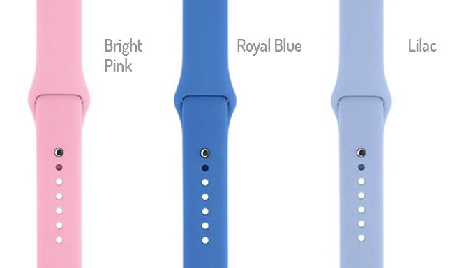 Apple Watch Compatible Silicone Strap - 21 Colours! cheapest retail price