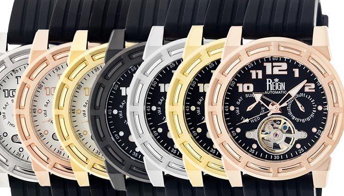 Reign Rothschild SemiSkeleton Automatic Watch  7 Designs