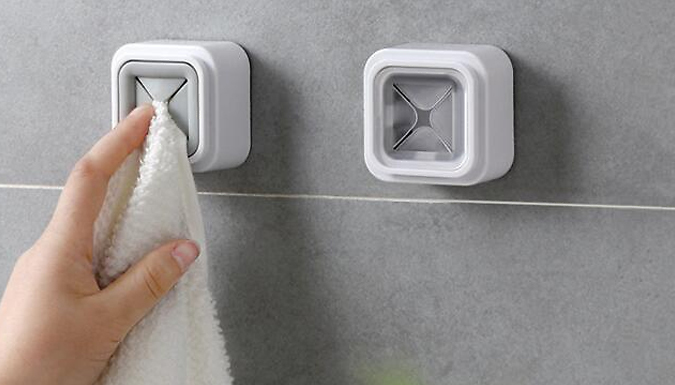 4 or 8-Pack of Wall Mounted Towel Holders - 2 Colours