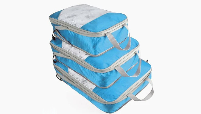 3-Piece Luggage Organiser Set - 4 Colours from Fantasy Supply