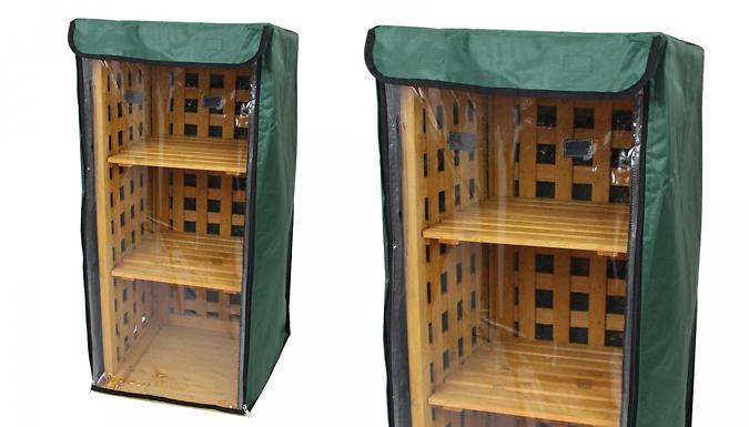 2-in-1 Waterproof Firewood & Wellie Storage Rack