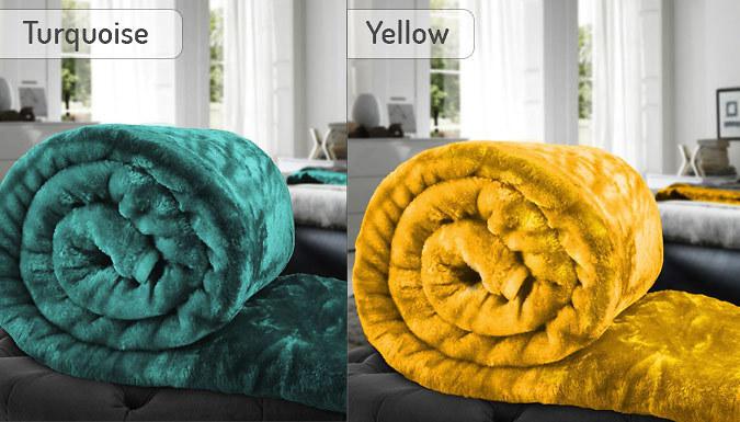 Faux Fur Mink Throw - 15 Colours
