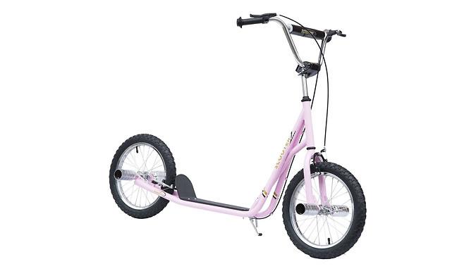 "HOMCOM Kid's Pink 16"" Tyre Scooter"