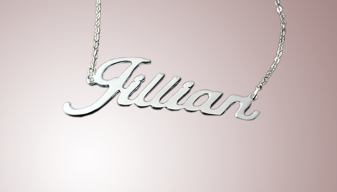 Personalised Name Necklace - 4 Chain Lengths