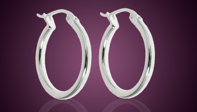 Silver Plated French-Lock Hoops