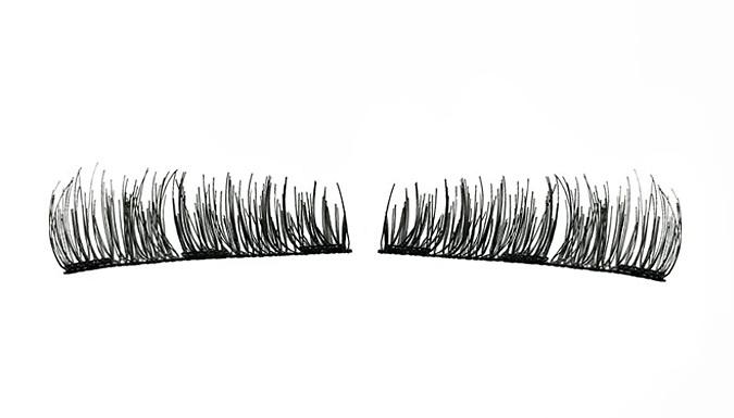 1, 2 or 3 Pairs of Glamza Magnetic Eyelashes - 8 Designs