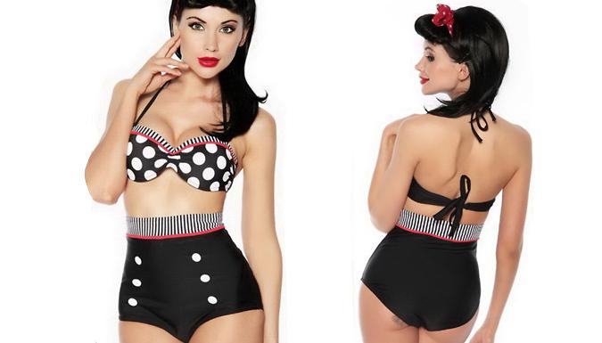 High-Waisted Bikini; 3 Designs