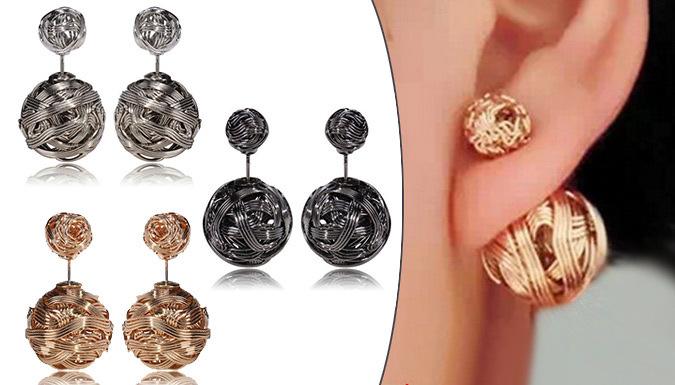 Woven Metal Earrings; 3 colours