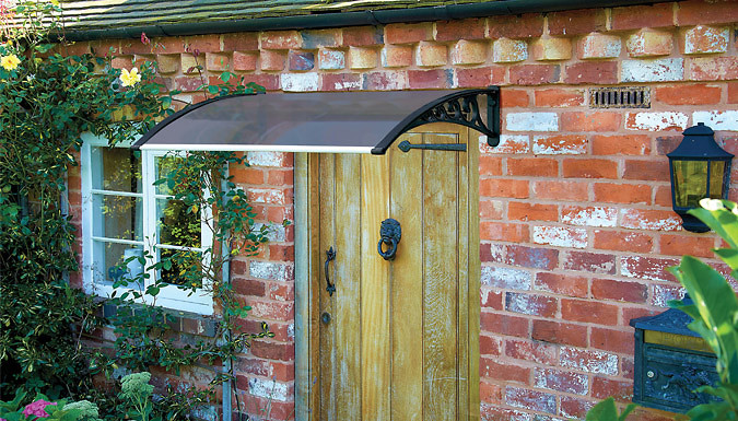 Wall-Mounted All-Weather Door Canopy with UV Protection - 2 Colours