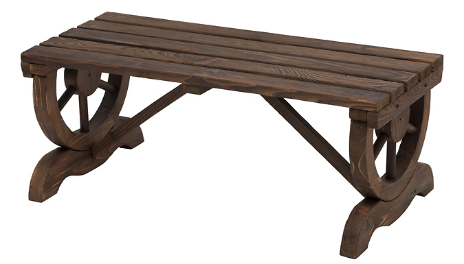 Outsunny Rustic Wooden Bench