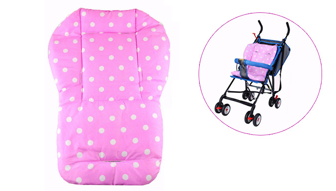 One or Two Colourful Baby Stroller Cushions