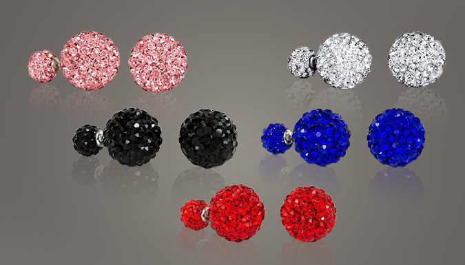 Silver Plated Swarovski Elements Double Studs