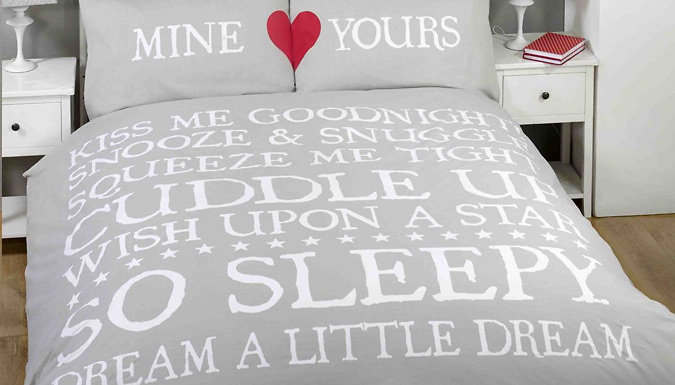 Mine/Yours Double Bedding Set