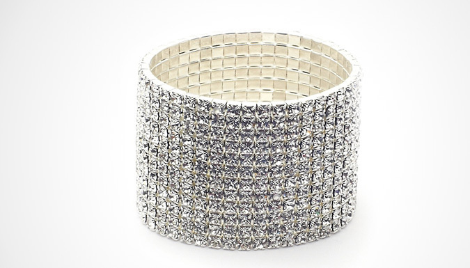 12-Row Swarovski Elements Crystal Bracelet