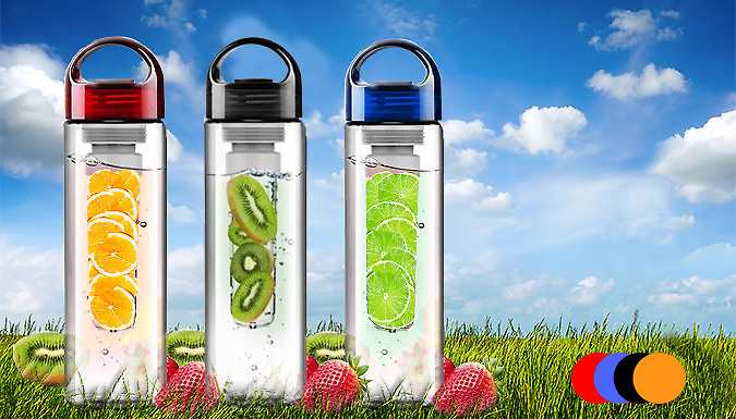 Fruit Infuser Juice Bottle - 4 Colours