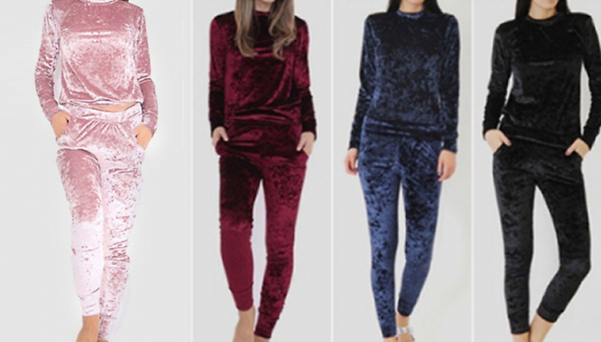 2-Piece Women's Velour Loungewear Set - 5 Colours & 3 Sizes