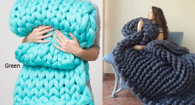 Super Thick Chunky Blanket - 4 Colours & 2 Sizes