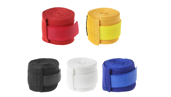 2-Pack of Cotton Boxing Hand Bandage Wraps - 5 Colours from Wish Whoosh Offers