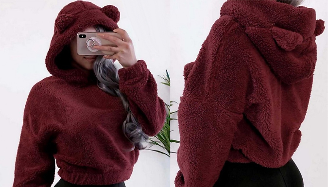 Women's Teddy Bear Furry Jumper - 4 Colours & Sizes