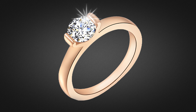 Rose Gold Plated Zirconia Ring