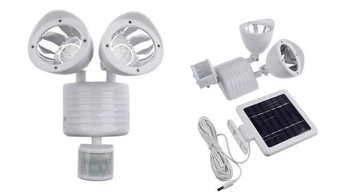 22-LED Solar Powered Security Floodlight – Black or White (£19.99)