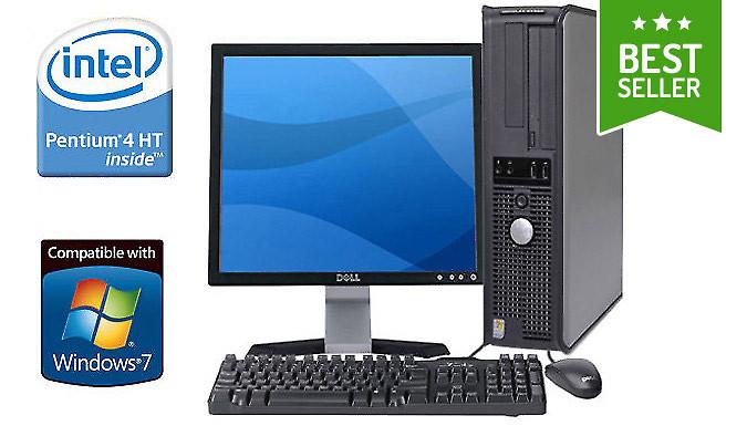 Dell Desktop WiFi PC with Optional Bundle Grade B Refurb