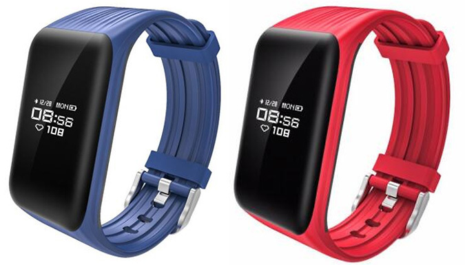 Waterproof Fitness Tracker With Heart Rate Monitor - 3 Colours