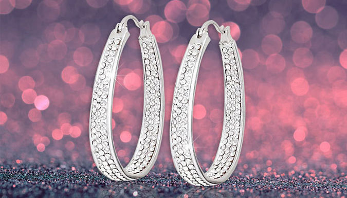 DDDeals - Swarovski Elements Inside-Out Hoop Earrings