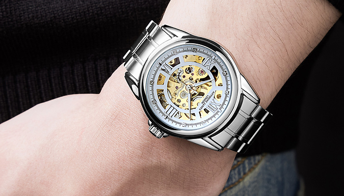 Hand Assembled Anthony James Limited Edition Men's Skeleton Watch - 2 Colours from GoGroopie