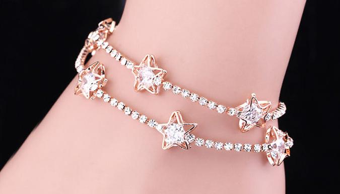 10K Gold Plated Cristina Star Bracelet