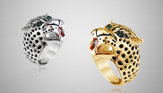 Statement Leopard Ring
