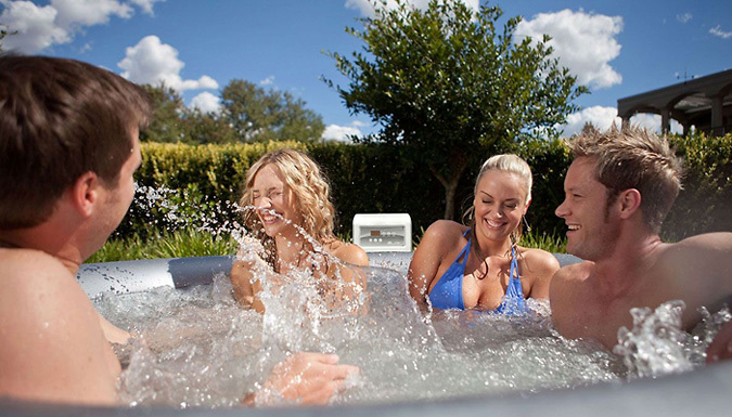 Buy 930L Inflatable MSPA Hot Tub With Cover at £349.00 from Go Groopie