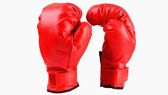 Kids or Adult PU Leather Boxing Gloves from Wish Whoosh Offers