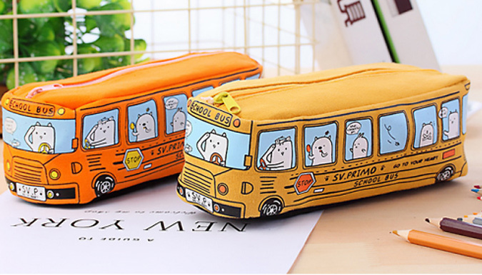 Animal Bus Pencil Case - 4 Colours from Good2items