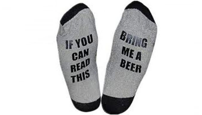 Compare retail prices of 'If You Can Read This' Socks - 7 Designs to get the best deal online