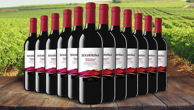 12 Bottles of Castillo Soldepeñas Tinto Red Wine