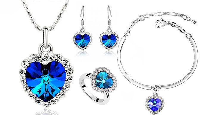 Four Piece Blue Heart Set