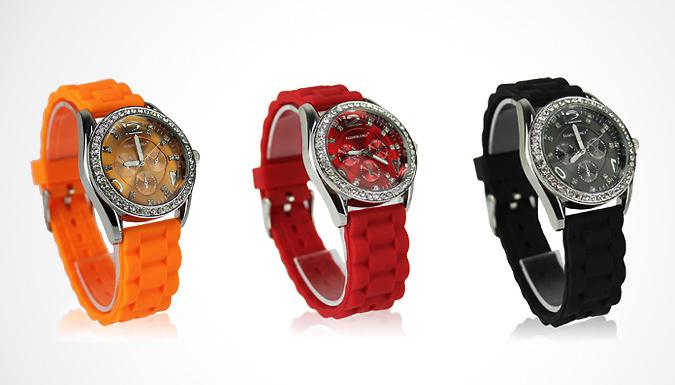 Women's Diamante Watch; 12 Colours