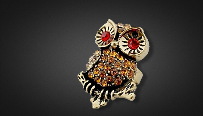 Cheeky Owl Ring