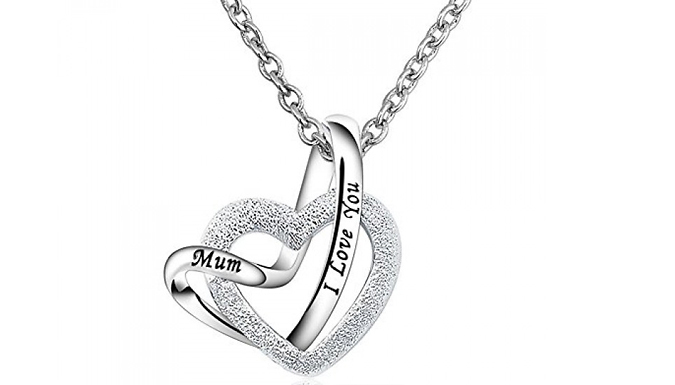 Compare retail prices of 'I Love You Mum' Silver-Coloured Pendant to get the best deal online