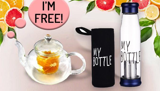 My Bottle Fruit Infused Glass Water Bottle & FREE Teapot!