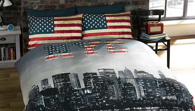 NYC Reversible Duvet Set
