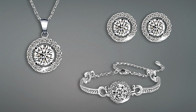 Swarovski Elements Crystal Trio Jewellery Set